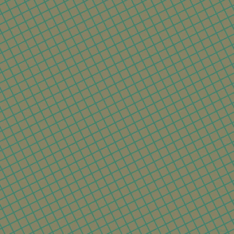 27/117 degree angle diagonal checkered chequered lines, 4 pixel lines width, 26 pixel square size, Viridian and Bandicoot plaid checkered seamless tileable
