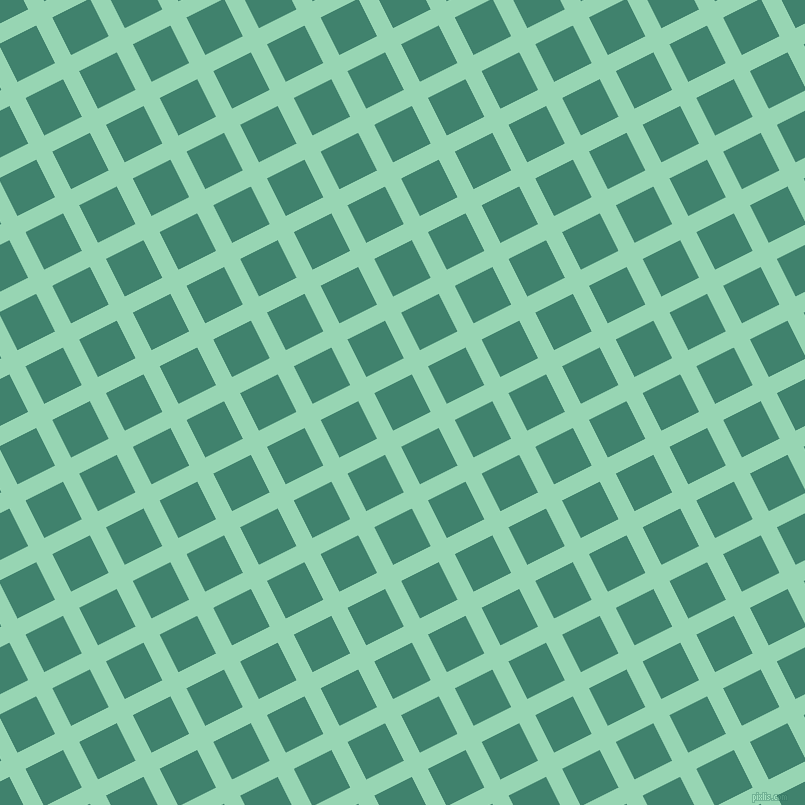 27/117 degree angle diagonal checkered chequered lines, 18 pixel lines width, 42 pixel square size, Vista Blue and Viridian plaid checkered seamless tileable