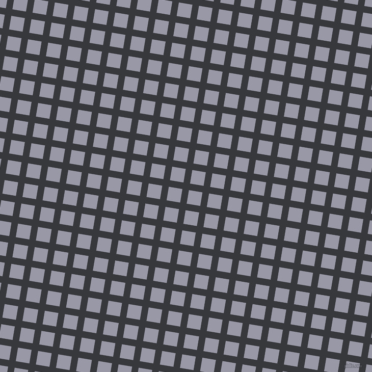 81/171 degree angle diagonal checkered chequered lines, 13 pixel lines width, 27 pixel square size, Vulcan and Santas Grey plaid checkered seamless tileable