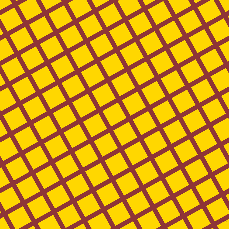 29/119 degree angle diagonal checkered chequered lines, 15 pixel lines width, 58 pixel square size, Well Read and Gold plaid checkered seamless tileable