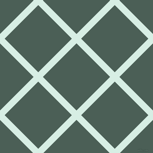 45/135 degree angle diagonal checkered chequered lines, 22 pixel lines width, 158 pixel square size, White Ice and Viridian Green plaid checkered seamless tileable