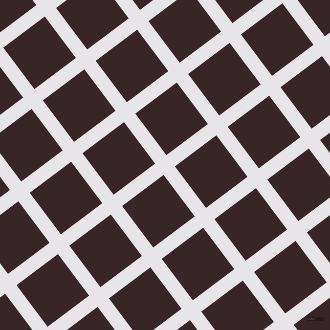 37/127 degree angle diagonal checkered chequered lines, 29 pixel lines width, 106 pixel square sizeWhite Lilac and Aubergine plaid checkered seamless tileable