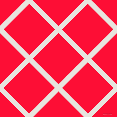 45/135 degree angle diagonal checkered chequered lines, 21 pixel lines width, 149 pixel square size, Wild Sand and Torch Red plaid checkered seamless tileable