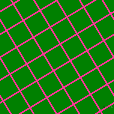 31/121 degree angle diagonal checkered chequered lines, 6 pixel line width, 68 pixel square size, Wild Strawberry and Green plaid checkered seamless tileable