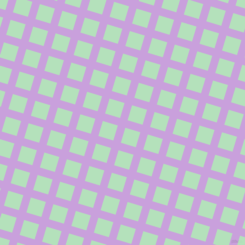 73/163 degree angle diagonal checkered chequered lines, 26 pixel lines width, 52 pixel square size, Wisteria and Fringy Flower plaid checkered seamless tileable