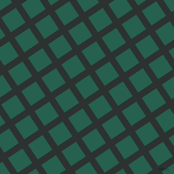 34/124 degree angle diagonal checkered chequered lines, 23 pixel line width, 62 pixel square size, Woodsmoke and Evening Sea plaid checkered seamless tileable