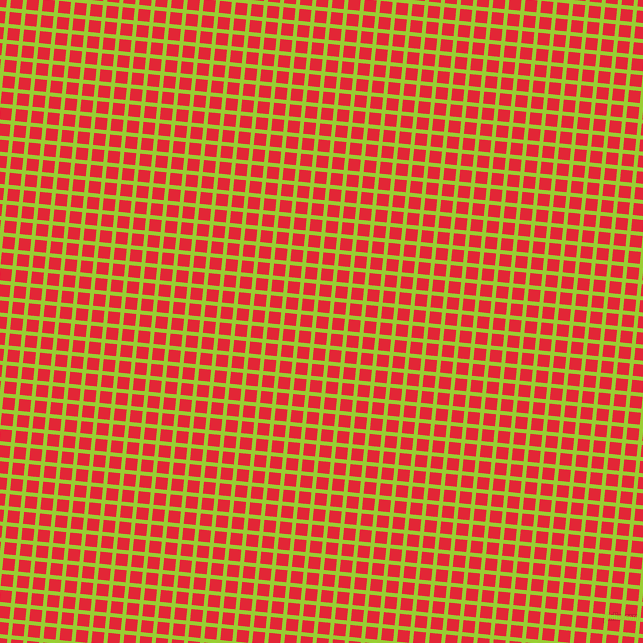 84/174 degree angle diagonal checkered chequered lines, 4 pixel line width, 12 pixel square size, Yellow Green and Alizarin plaid checkered seamless tileable