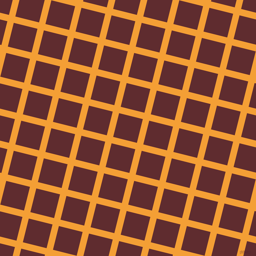 76/166 degree angle diagonal checkered chequered lines, 22 pixel line width, 82 pixel square size, Yellow Sea and Jazz plaid checkered seamless tileable