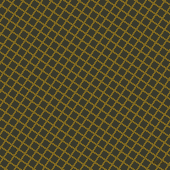 56/146 degree angle diagonal checkered chequered lines, 5 pixel line width, 20 pixel square size, Yukon Gold and El Paso plaid checkered seamless tileable