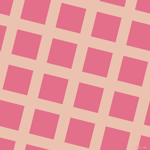 76/166 degree angle diagonal checkered chequered lines, 35 pixel lines width, 81 pixel square size, Zinnwaldite and Deep Blush plaid checkered seamless tileable