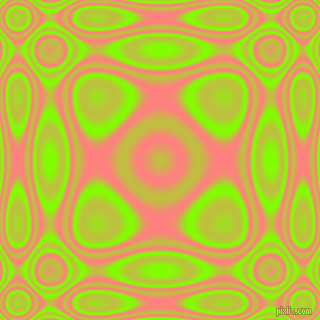 , Chartreuse and Salmon plasma wave seamless tileable