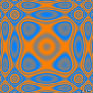 , Dodger Blue and Dark Orange plasma wave seamless tileable