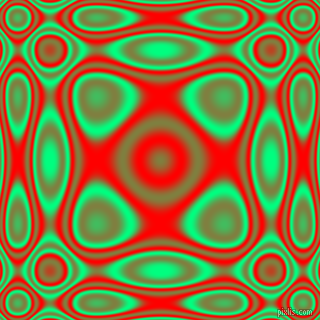 Spring Green and Red plasma wave seamless tileable