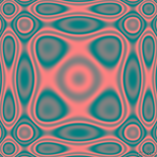 , Teal and Salmon plasma wave seamless tileable