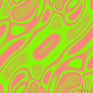 Chartreuse and Salmon plasma waves seamless tileable