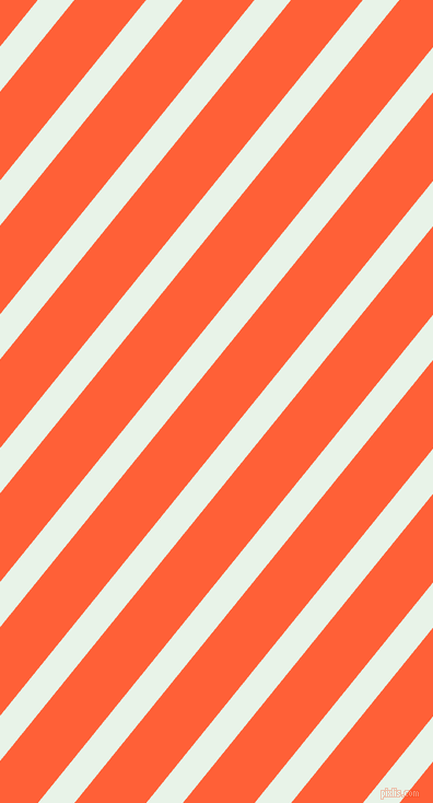 51 degree angle lines stripes, 26 pixel line width, 51 pixel line spacing, Aqua Spring and Outrageous Orange stripes and lines seamless tileable