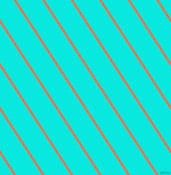 123 degree angle lines stripes, 8 pixel line width, 76 pixel line spacing, Burnt Sienna and Bright Turquoise stripes and lines seamless tileable