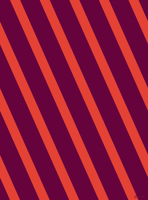 114 degree angle lines stripes, 31 pixel line width, 60 pixel line spacing, Cinnabar and Tyrian Purple stripes and lines seamless tileable