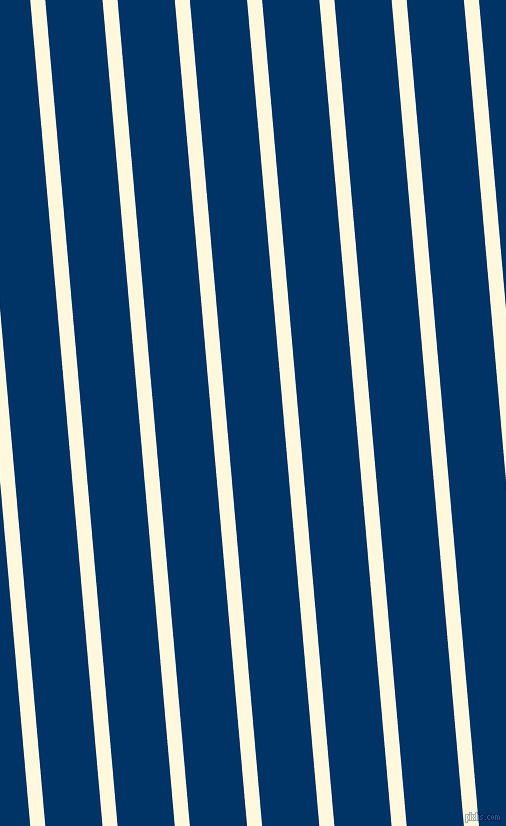 95 degree angle lines stripes, 15 pixel line width, 57 pixel line spacing, Corn Silk and Prussian Blue stripes and lines seamless tileable