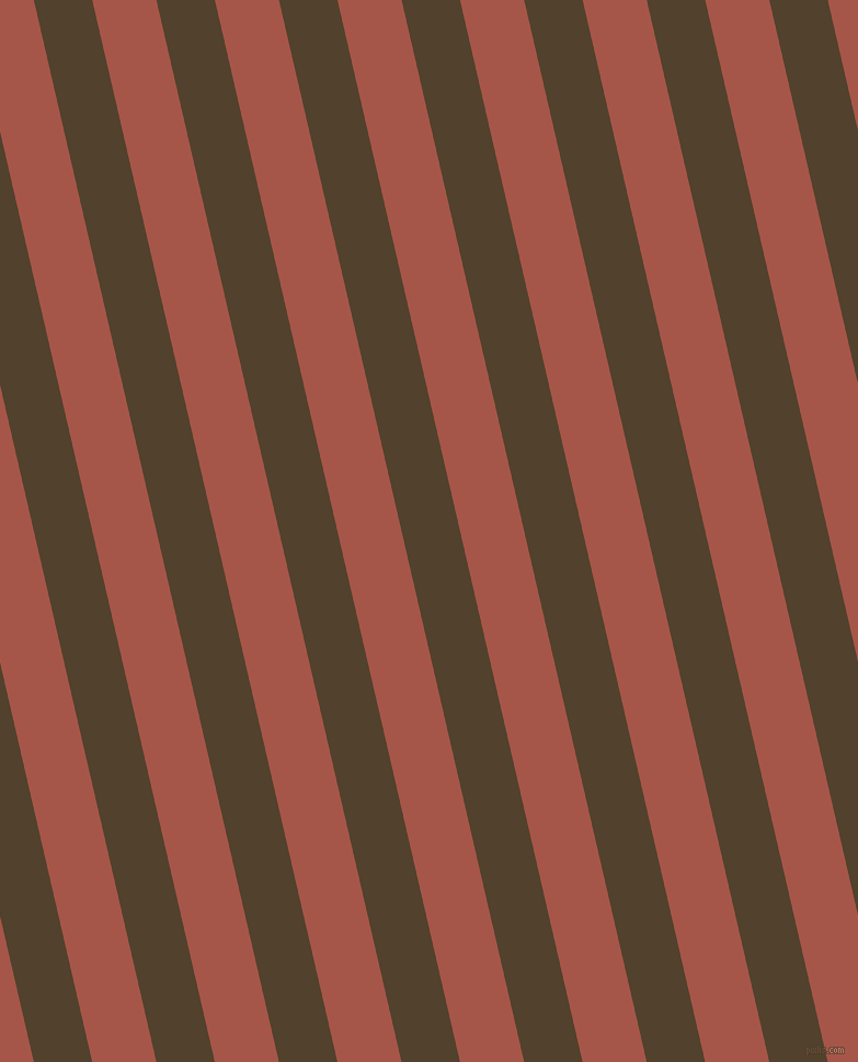 103 degree angle lines stripes, 52 pixel line width, 57 pixel line spacing, Deep Bronze and Crail stripes and lines seamless tileable