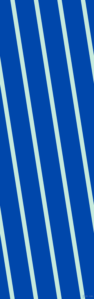 99 degree angle lines stripes, 15 pixel line width, 65 pixel line spacing, Mint Tulip and Cobalt stripes and lines seamless tileable