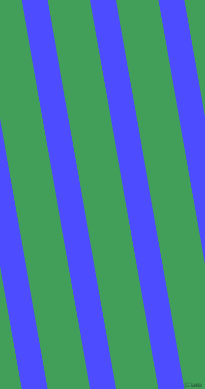 100 degree angle lines stripes, 52 pixel line width, 85 pixel line spacing, Neon Blue and Chateau Green stripes and lines seamless tileable