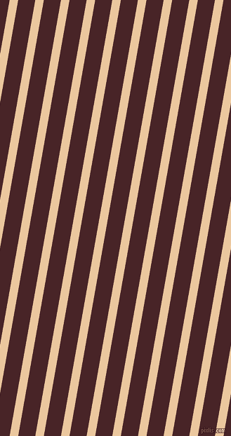 80 degree angle lines stripes, 12 pixel line width, 24 pixel line spacing, New Tan and Bulgarian Rose stripes and lines seamless tileable