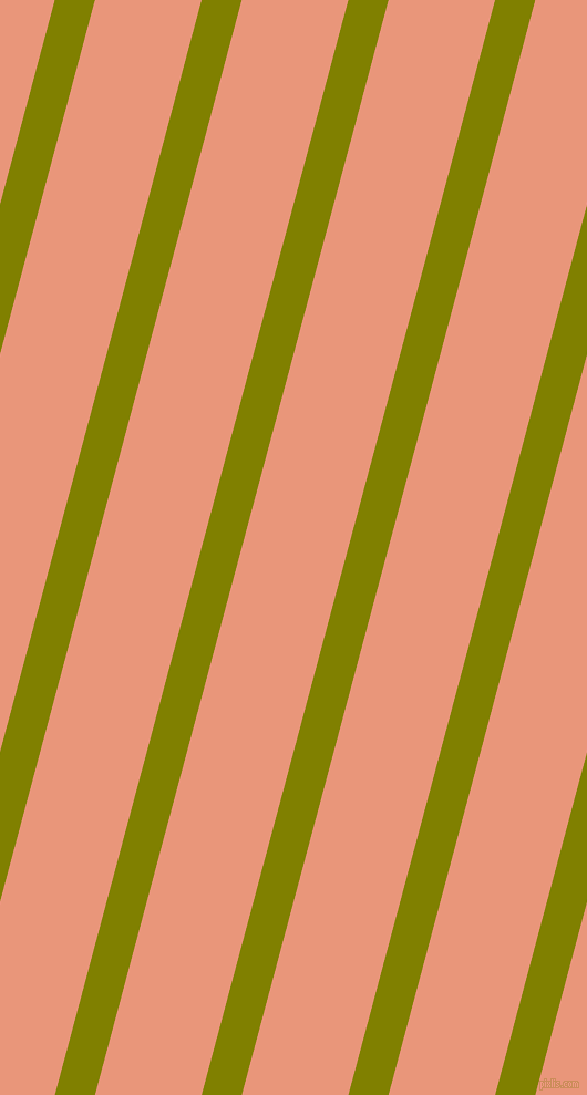 75 degree angle lines stripes, 35 pixel line width, 93 pixel line spacing, Olive and Dark Salmon stripes and lines seamless tileable