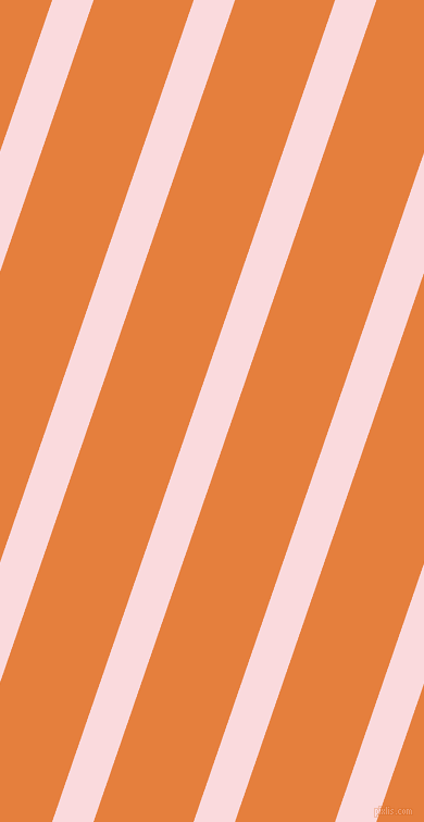 71 degree angle lines stripes, 36 pixel line width, 87 pixel line spacing, Pale Pink and Pizazz stripes and lines seamless tileable