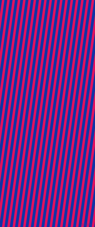 82 degree angle lines stripes, 8 pixel line width, 9 pixel line spacing, Ruby and Egyptian Blue stripes and lines seamless tileable