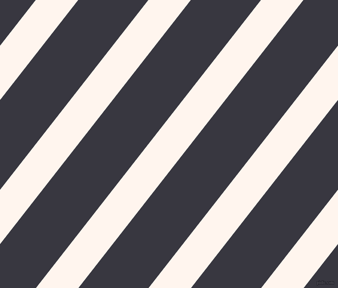 52 degree angle lines stripes, 69 pixel line width, 114 pixel line spacing, Seashell and Black Marlin stripes and lines seamless tileable