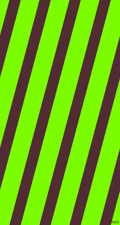 75 degree angle lines stripes, 35 pixel line width, 58 pixel line spacing, Wine Berry and Lawn Green stripes and lines seamless tileable