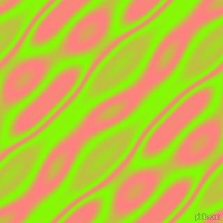 , Chartreuse and Salmon wavy plasma seamless tileable