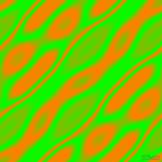 Lime and Dark Orange wavy plasma seamless tileable